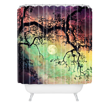 Shannon Clark Aurora Moon Shower Curtain
