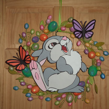 Bambi's Thumper Easter Wreath with Butterflies