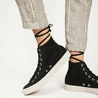 Marble Sole High Top Sneaker