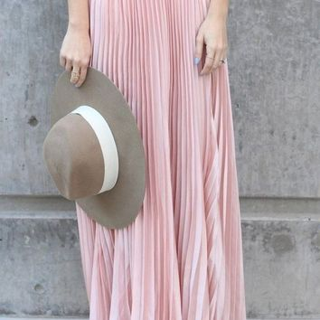 Lucky Duck Cinderella Pleated Maxi Skirt