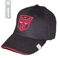 Transformers Autobot Black Fitted Baseball Cap Hat