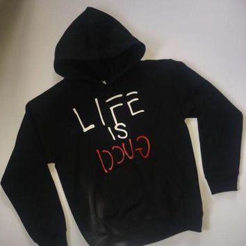 ESBONP9 Life is Gucci hoodie sweater boys custom jacket