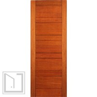 Exterior Flush Single Door, Mahogany, Contemporary Design