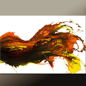 Abstract Canvas Art Painting Canvas 36x24 Original Modern Contemporary Paintings by Destiny Womack - dWo - Burning Desire