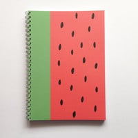 Watermelon A5 Notebook Blank Page Watermelon Fruity Cover