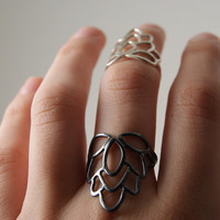 Eastern Flower Ring Sterling Silver by anatomi on Etsy