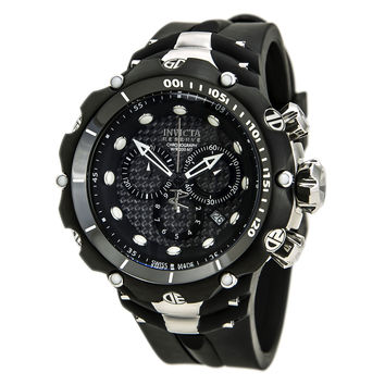 Invicta 80477 Men's Venom Chronograph Black Dial Rubber Strap Dive Watch
