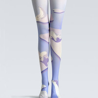 "Women's Fashion ""The Arctic"" Printed Pattern Opaque High Waist Tights Pantyhose VK0017 by Fashnin.com"