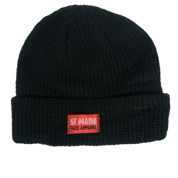 SF Made Knitted Beanie in black