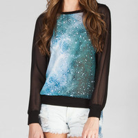 Full Tilt Galxy Womens Chiffon Top Multi  In Sizes