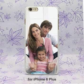 Unique Personalized custom we are family Pattern hard White Skin Case Cover for Apple iPhone 7 6 6s Plus SE 4 4s 5 5s 5c