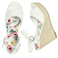 Rope Canvas Wedge - Teen Clothing by Wet Seal