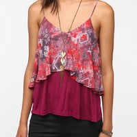 Sparkle & Fade Printed Double Layer Cami