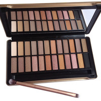 NK 4 Eyeshadow Palette 24 Colors Matte Colors with Brush
