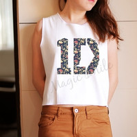 1D shirt one direction shirt 1D tank style - Premium cotton Crop tank, Tank Top, T-shirt, Long sleeve, unisex shirt, women tank, girl tank