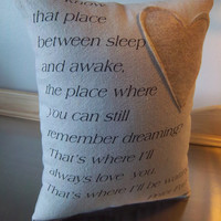 Thinking of you gift canvas throw pillows Peter Pan quote pillow