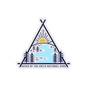 Gates Of The Arctic National Park Sticker, National Park Sticker, National Park Gift