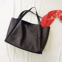 🎉Host Pick F21 Black Faux Pebbled Leather Tote