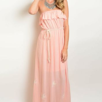 Ruffle Flounce Maxi Dress