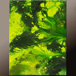 Abstract Canvas Art Painting 18x24 Original Green Contemporary Modern Fine Art Paintings by Destiny Womack - dWo - Emerald Skies