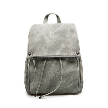 Aged Leather Backpack