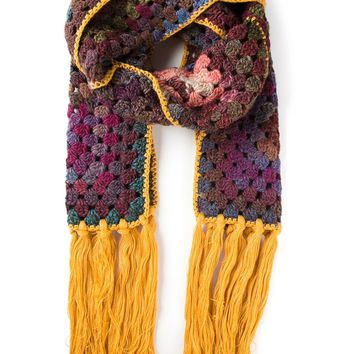 Etro crocheted fringed scarf