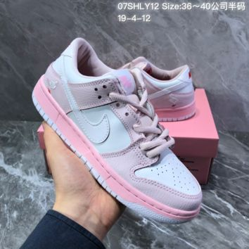 HCXX N1408 Nike Zoom Dunk Sb Low Elite Casual Sports Skateboard Shoes White Pink