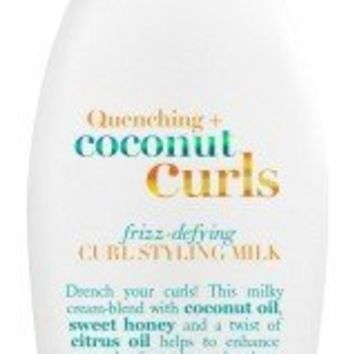 Organix Quenching Plus Coconut Curls Frizz-Defying Curl Styling Milk, 6 Fluid Ounce