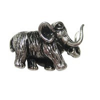 Silver Toned Woolly Mammoth Magnet