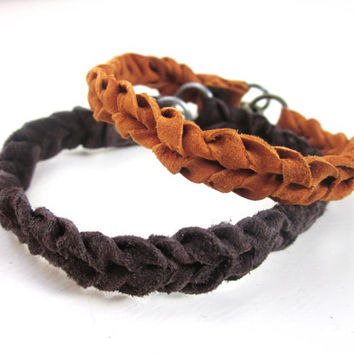 Knotted Leather Bracelet, Leather Jewelry, Boho Bracelet, Leather Wristband