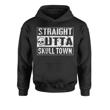Straight Outta Skull Town Youth-Sized Hoodie