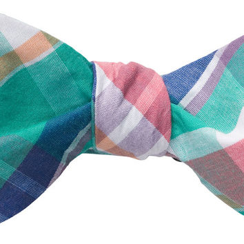 Madras Bow Tie in Teal by Southern Proper