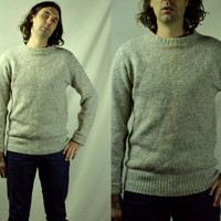 Vintage L.L.Bean Ivory Wool Outdoors Men's Sweater