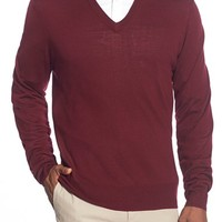 Men's Brooks Brothers 'Saxxon' V-Neck Sweater,