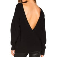BACK IT OUT PULLOVER SWEATER