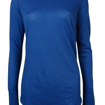 Polo Ralph Lauren Women's Long Sleeves Knit Slouchy Shirt M, Squire Blue