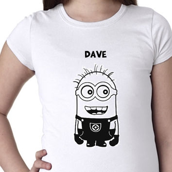 Minions // Dave // Girls Shirts // Multi Colors and Sizes Available