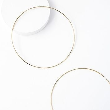 Kaylani Oversized Gold Hoop Earrings