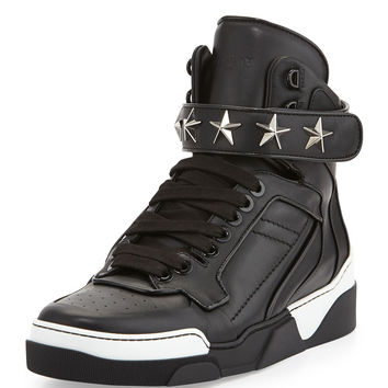 Tyson Star High-Top Sneaker, Black