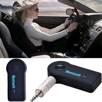 3.5mm Car Home Stereo Audio Bluetooth Hands-free Music Receiver Mic Cable Adapter AP = 1645885124