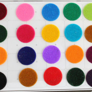Big Round Colored Bindi Stickers,Wedding Round Bindi,Plain Big Colorful Bindis,Indian Multicolor Face  Bindis,Bollywood Bindis,Self Adhesive