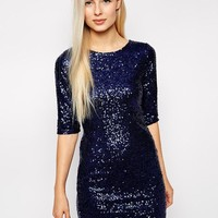 Club L | Club L Dress in All Over Sequins at ASOS