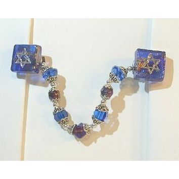 Glass Tallit Clips