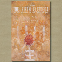 The Fifth Element - 11 x 17 Fan art Alternative Movie Poster
