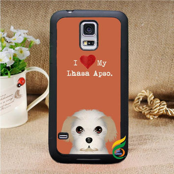 Lhasa Apso dog puppies cell phone case cover for Samsung Galaxy see description for models