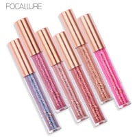 FOCALLURE Makeup Metallic lipstick Glitter Lip Gloss Waterproof Matte Lips Liquid Batom Maquiagem Magic Colors Nude Shimmer Lip