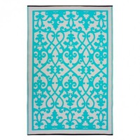 Cream and Turquoise Venice Area Rug
