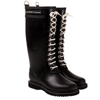 Ilse Jacobsen Hornbaek: Lace Up Rainboot Tall Black, at 30% off!