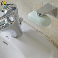Hot Home Bathroom Magnetic Silver Soap Holder Container Dispenser Wall Attachment Adhesion Soap Dishes for Bathroom
