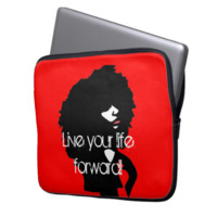 Natural afro chick illustration laptop computer sleeves